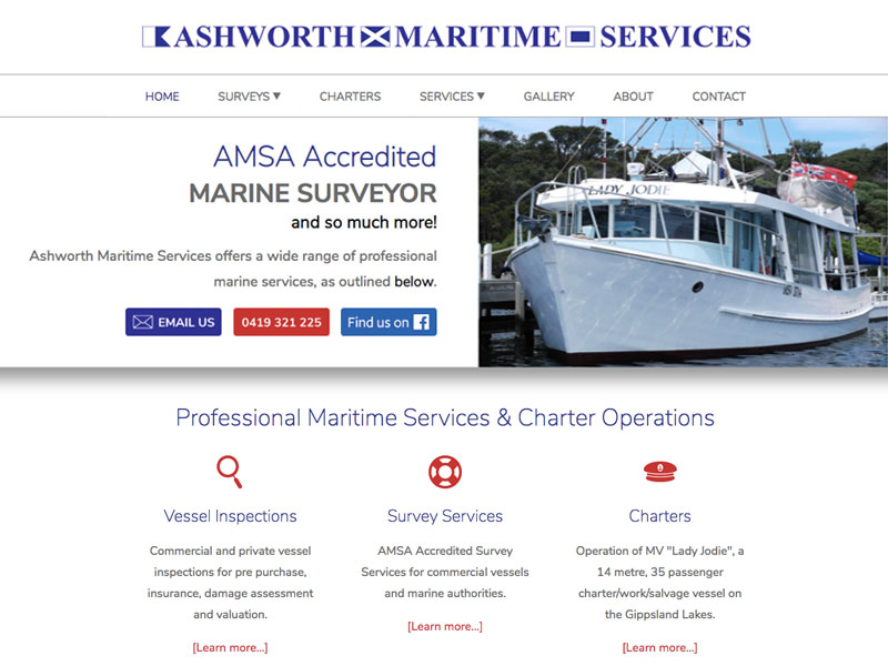 Ashworth Maritime Services, Paynesville VIC