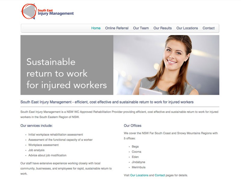 South East Injury Management, Merimbula/Bega/Eden/Cooma/Jindabyne NSW