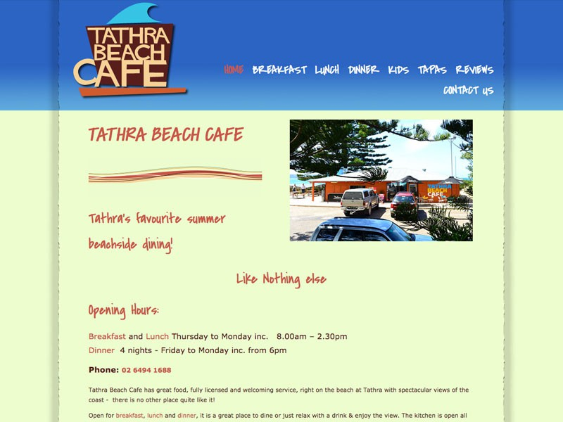 Tathra Beach Cafe, Tathra Beach NSW